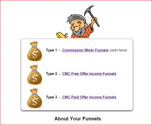 commission miner co-op funnels