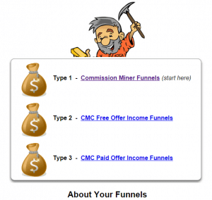 commission miner co-op funnels