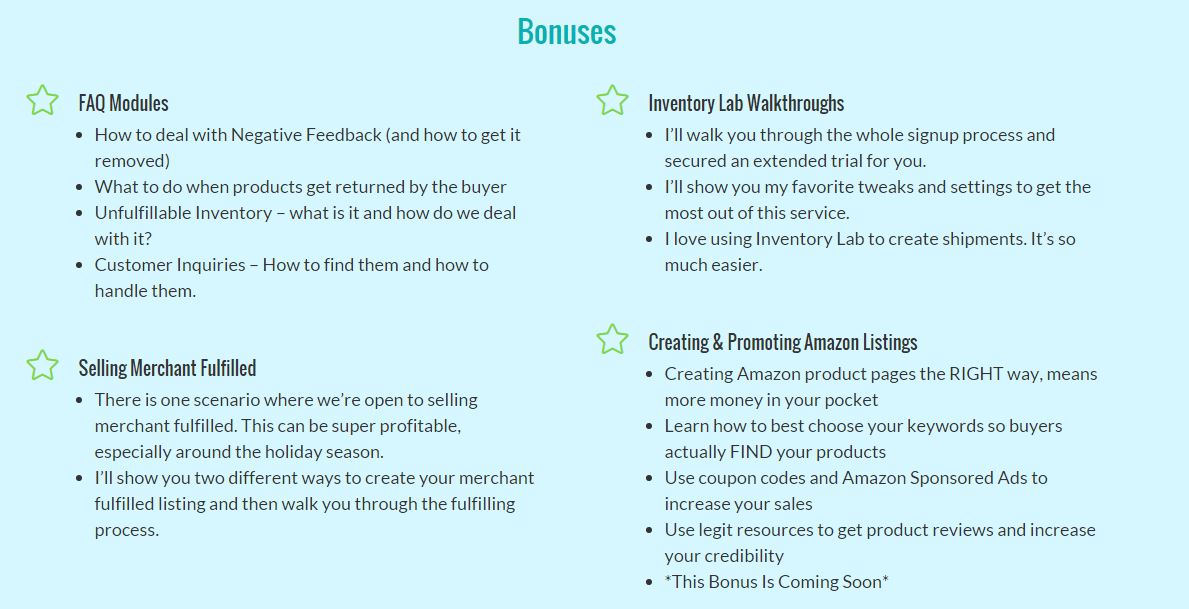 Amazon Bootcamp V2.0 Revie-Bonuses