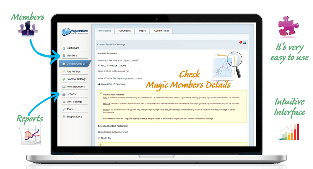 Magic Members membership plugin