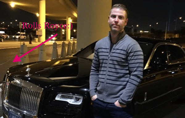 This is a Wealthy Affiliate Review Image Showing The Owner of Wealthy Affiliate in a Rolls Royce for thr Super AffiliateConfrence