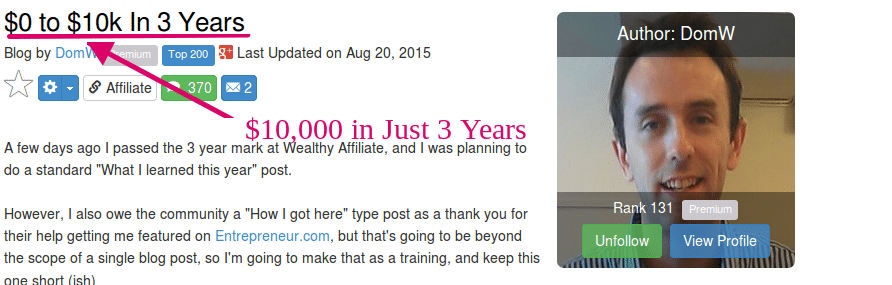 Wealthy Affiliate :$10k in Just 3 years HumanProofDesigns