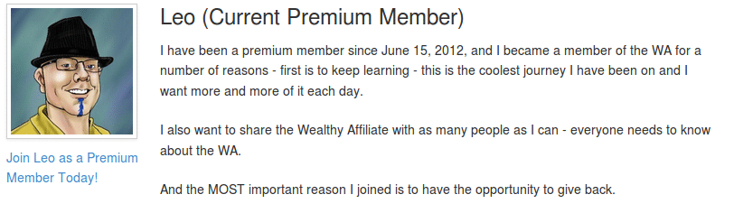 Wealthy Affiliate Testimonial by Leo Emery From Netwise Profits
