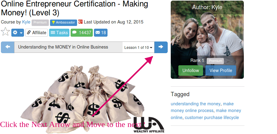 This is an Image Showing Wealthy Affiliate Certifications Courses Step-by-step Training