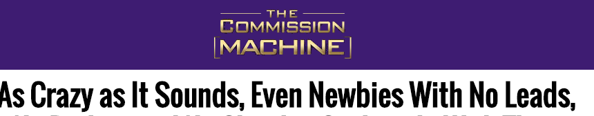 commission machine main page