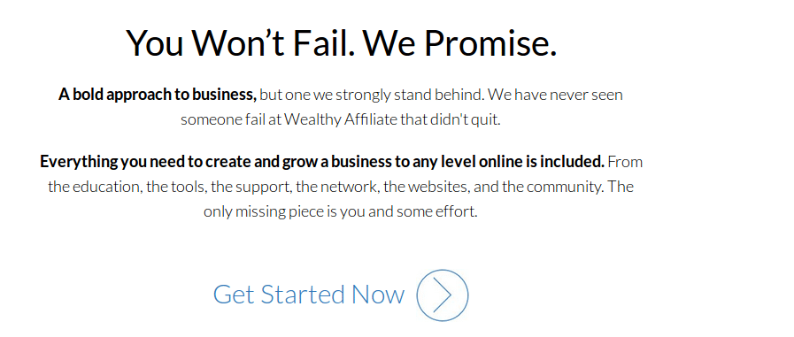 Wealthy Affiliate Guarantee