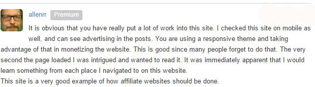 Wealthy Affiliate WebSite Feedback