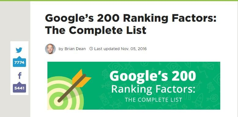 Affiliate marketing for Dummies: Google ranking factors