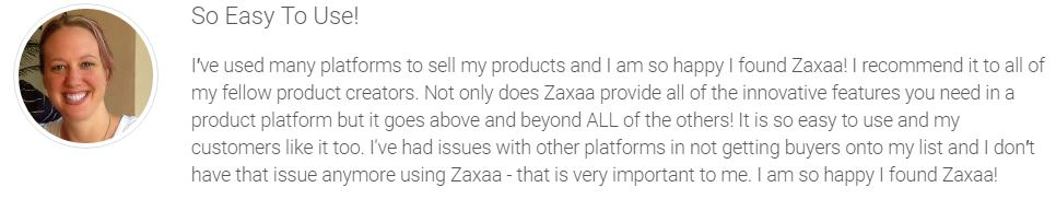 Zaxaa is easy to use