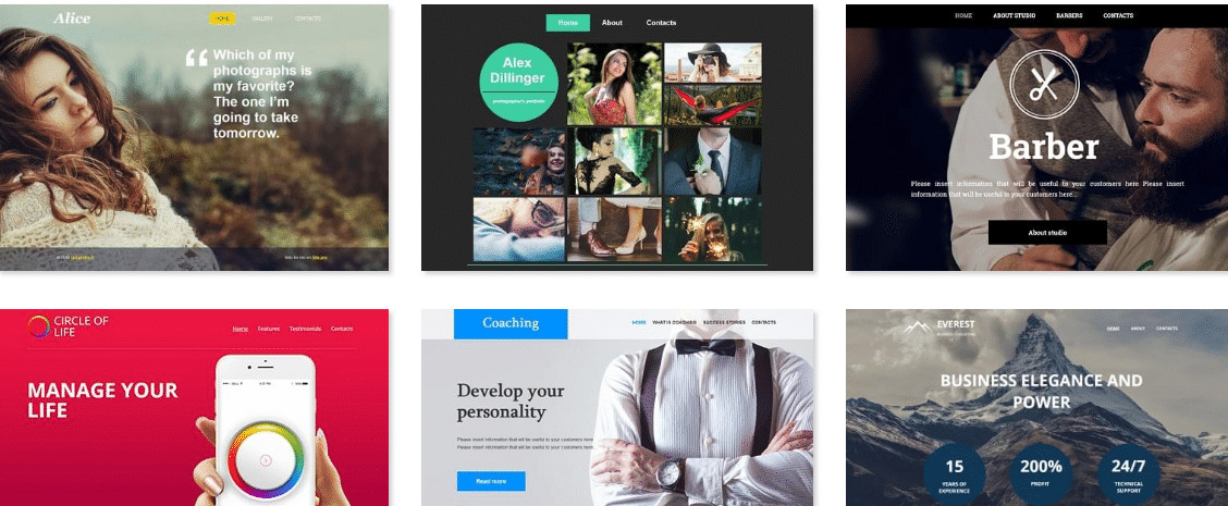 Hostinger review : customized templates