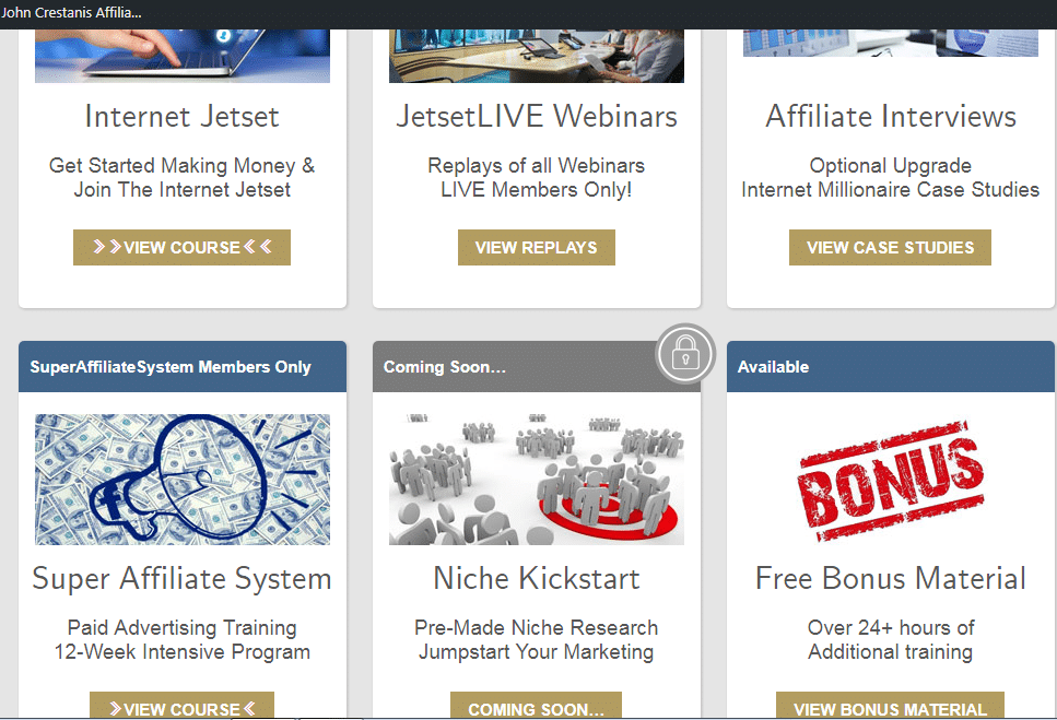 Internet Jetset Review - All courses