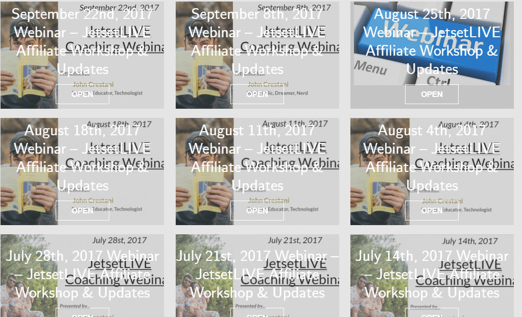 Internet Jetset Review - Live webinars