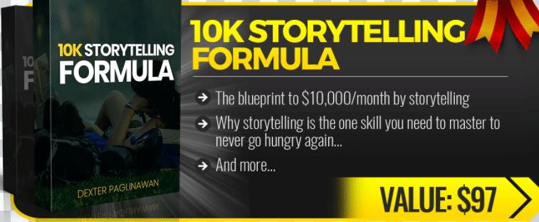10k Story Telling Formula Bonus