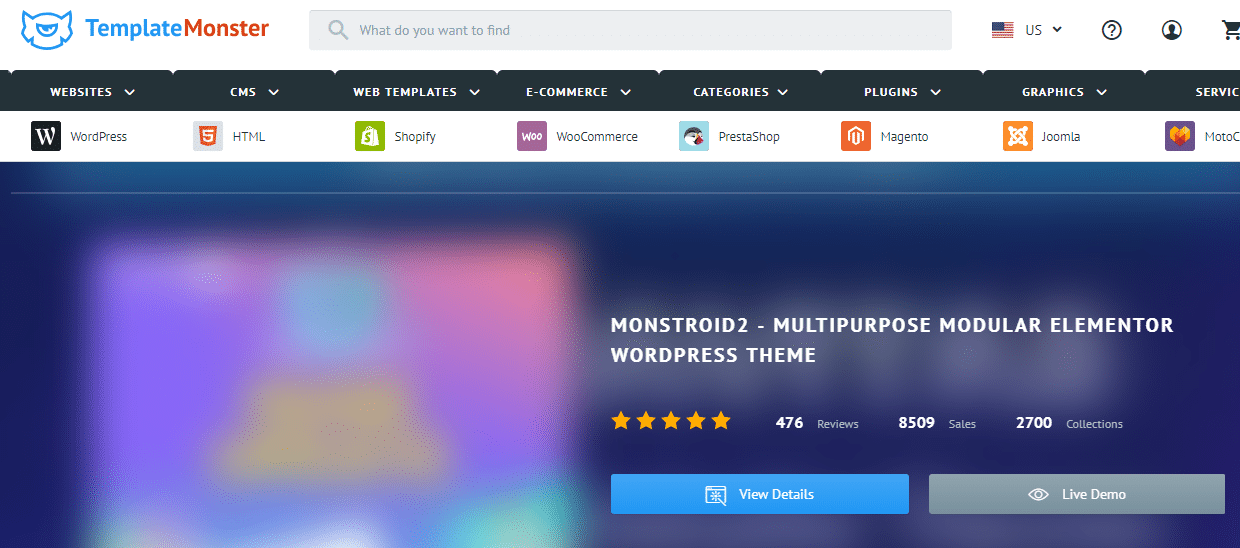 Template Monster Premium WordPress Theme