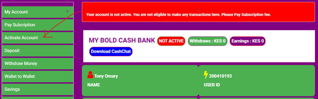 Boldcashers Review- How to Activate Your account